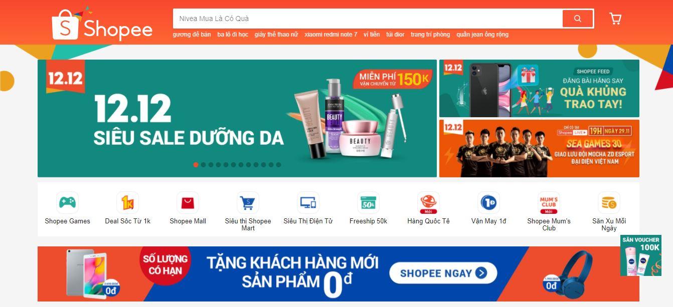 kênh bán hàng shopee