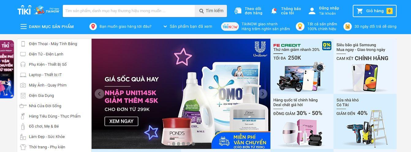 kênh bán hàng online tiki