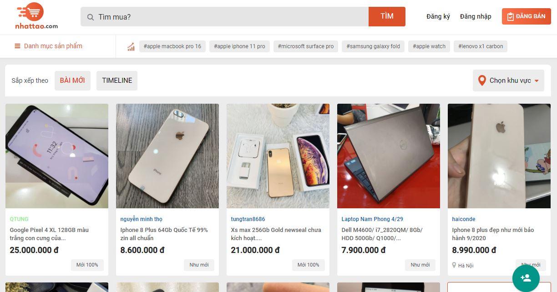 website rao vặt nhattao.com