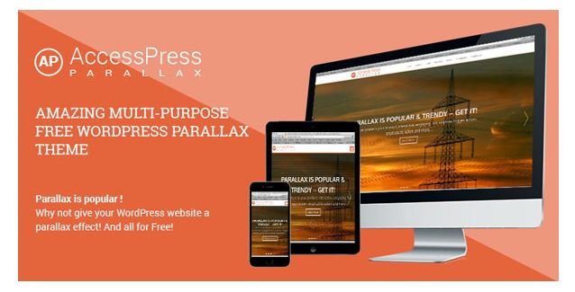 Accesspress Parallax - theme wordpress miễn phí