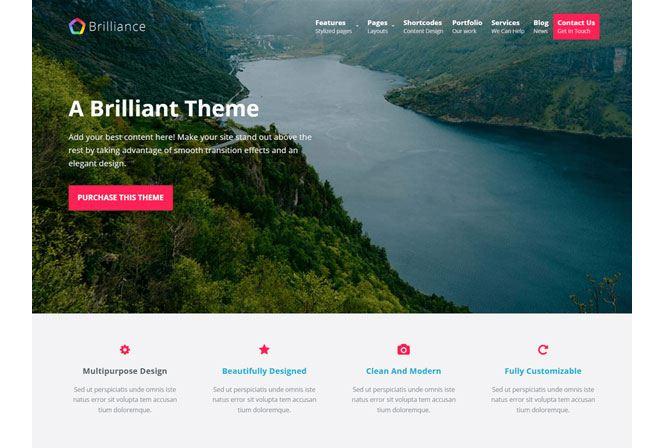Brilliance - thêm wordpress miễn phí