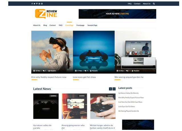 theme wordpress miễn phí - Reviewzine