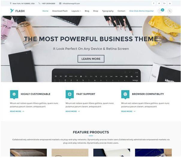 Theme wordpress miễn phí chất lượng - flash theme
