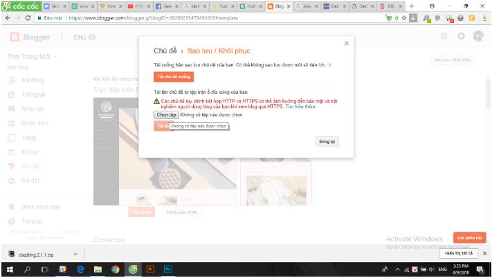 Cài đặt template cho blogspot đơn giản để sử dụng hiệu quả