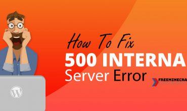 Khắc phục lỗi 500 internal server error